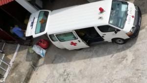 Trung tâm Y tế TP Tây Ninh từng dùng xe cứu thương vận chuyển rác thải y tế - Ảnh: Ngọc Hậu.